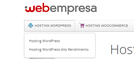 Hosting WordPress tipos