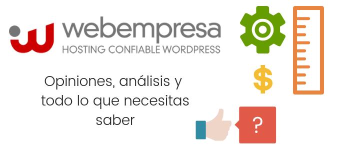 Webempresa opiniones, análisis y datos
