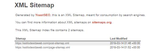 XLM Sitemap wordpress