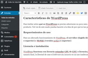 wordpress panel