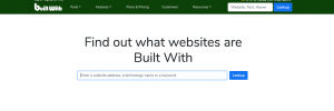 BuiltWith motor de búsqueda
