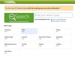 CreativeCommons motor de búsqueda