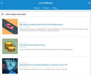 CrunchBase motor de búsqueda