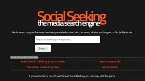 SocialSeeking motor de búsqueda
