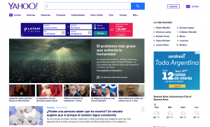 Yahoo buscador alternativo a google