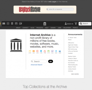 archive.org wayback machine motor de búsqueda