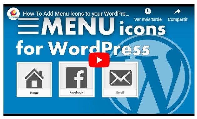 íconos WordPress