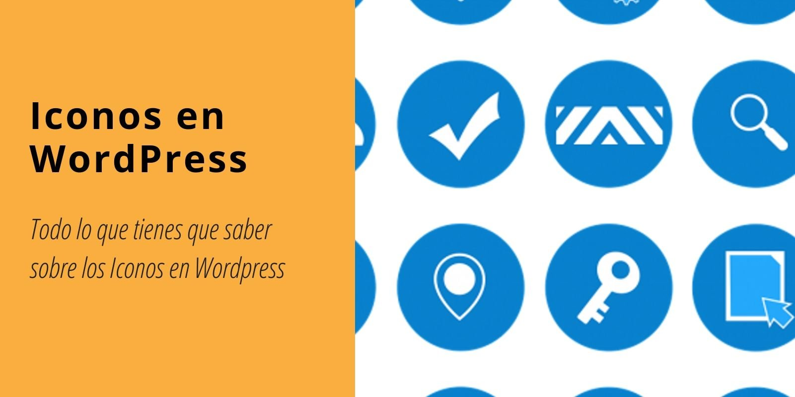 iconos en wordpress
