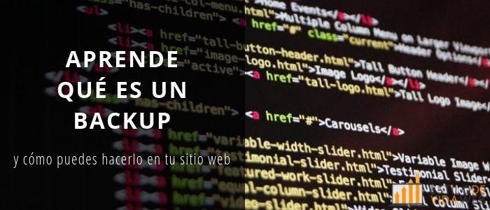 Aprende qué es un backup y cómo puedes hacerlo en tu sitio web