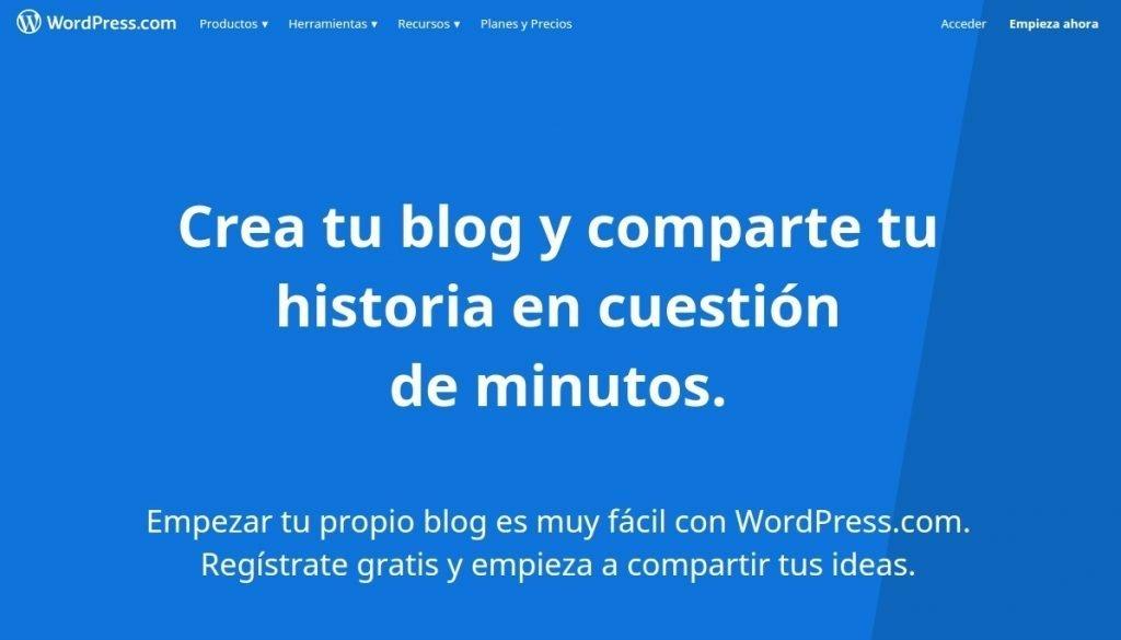 crear blgs con wordpress