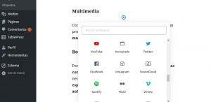 insertar multimedia en wordpress