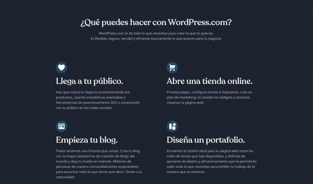 que puedes hacer con wordpress