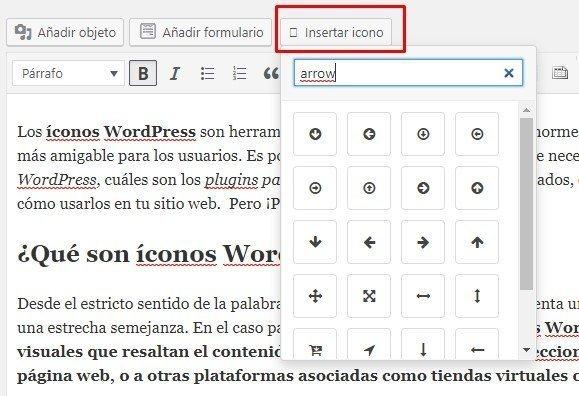 plugin iconos wordpress