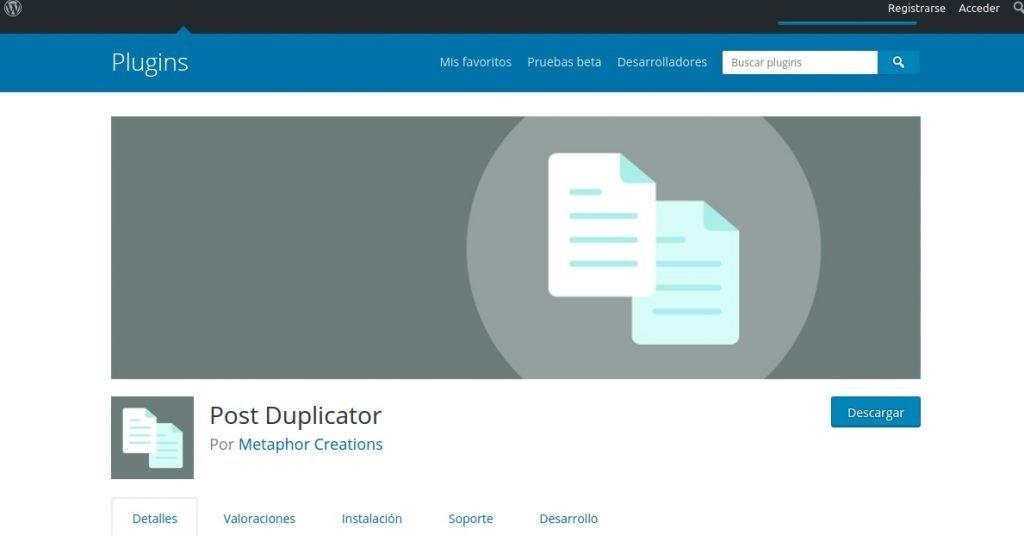 post duplicator plugin
